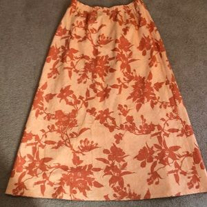 Pretty Orvis Skirt Linen Blend M Midi Modest